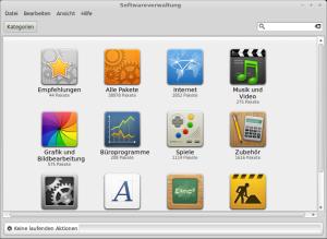 Mit der Softwareverwaltung MintInstall kann man in der riesigen Programmauswahl von Debian stöbern.