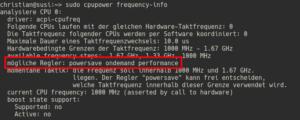 CPU Frequenz und mögliche Regker ermitteln