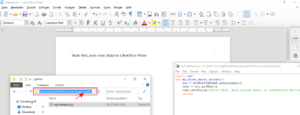 Das Python_makro in LibreOffice